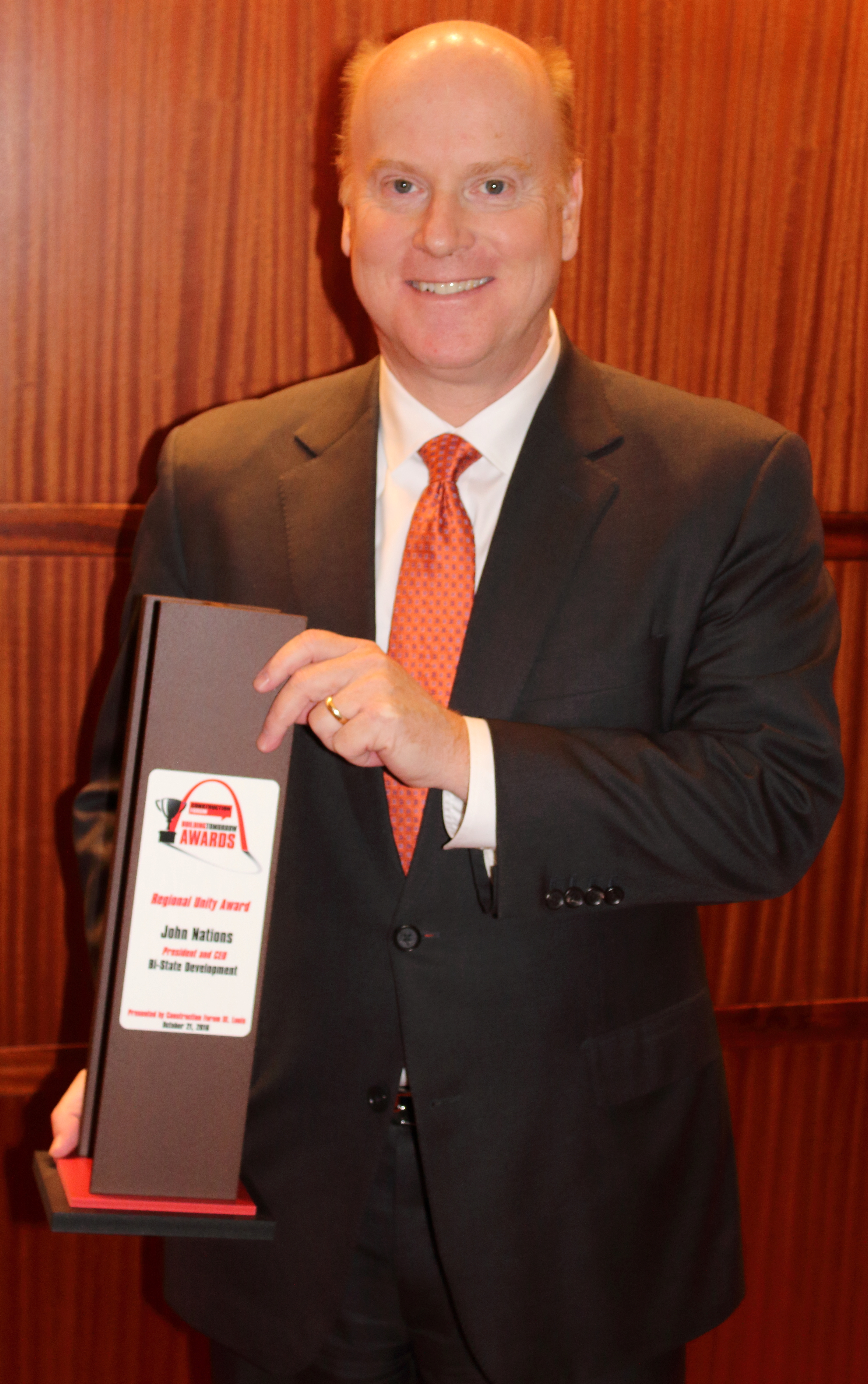 Construction Forum STL Honors Bi-State Development President and CEO John Nations With Regional Unity Award