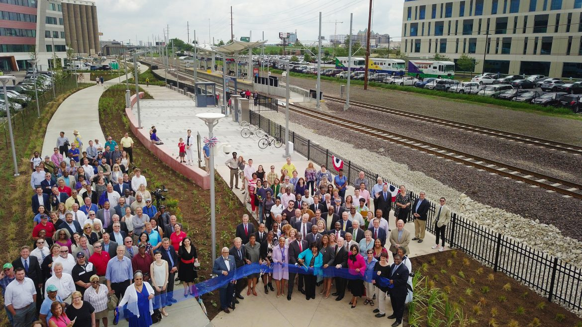 Grand Opening of New Light Rail Station & Greenway in St  Louis