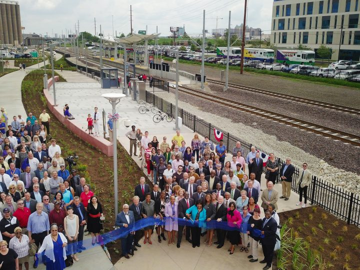 Grand Opening of New Light Rail Station & Greenway in St. Louis Featured Community Celebration Held on MetroLink's 25th Anniversary