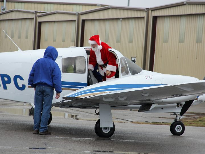 Santa Brings Holiday Cheer to St. Louis Downtown Airport