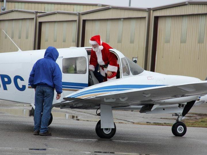 Santa Brings Holiday Cheer to St. Louis Downtown Airport