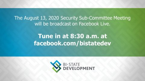 Graphic states August 13 committee meeting will be virtual on Facebook Live