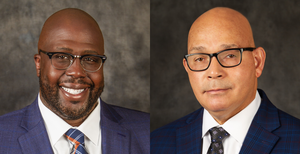 Headshots of Melvin Barkley as Assistant General Manager of MetroBus Operations, and Bertram De Sha as Director of MetroBus Service Performance