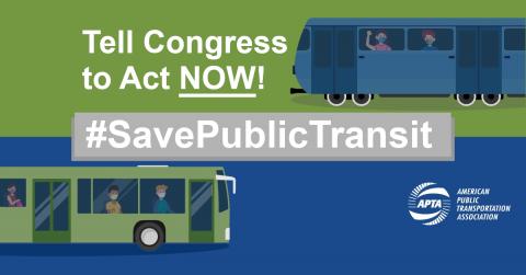 APTA's #SavePublicTransit logo