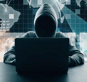 Stock photo of a hacker